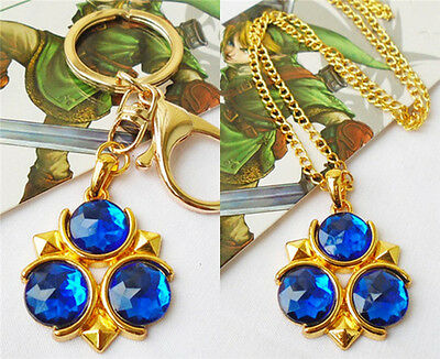 The Legend of Zelda Ocarina of Time Zora's Sapphire Necklace Pendant Keychain