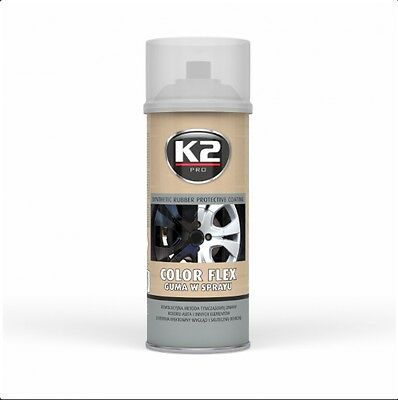 K2 Pro Color Flex Synthetic Rubber Protective Coating Spray Clear 400Ml
