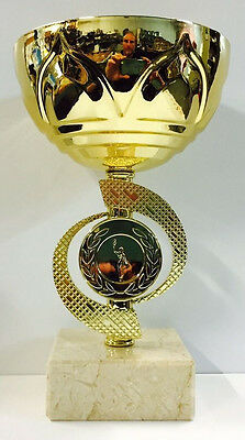 Gold Metal Cup Winner Achievement Award Trophy 190mm FREE Engraving