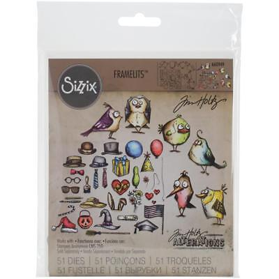 Tim Holtz Crazy Mini Birds and Things - Sizzix Framelits Die Set