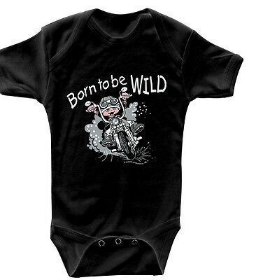 Body bebé Biker Born to be wild Calidad Bodies 0-24 Meses 08363