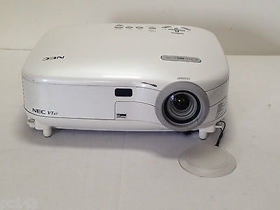 NEC VT47 LCD PROJECTOR USED 344h LAMP HOURS 88% REMAINING LAMP WARNING | REF:571