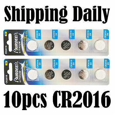 10pcs Pairdeer CR2016 Button Cell Battery Coin Lithium Battery expire 2016