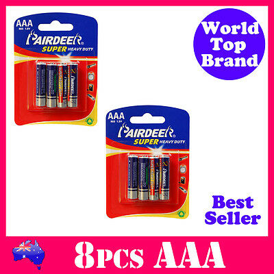 8pcs AAA Battery Super Heavy Duty PairDeer Quality Batteries AAA R03 BB SEP2017