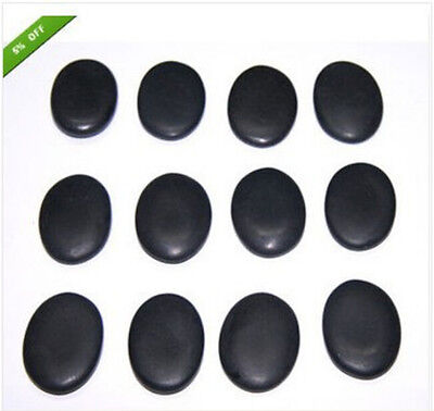Health and Fitness Basalt Lava Hot Stone Massage Set with 5 size 2.8*3.8*0.5cm