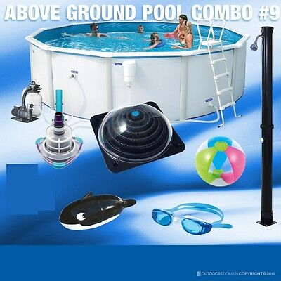 Poolscape Solista 11500L Above Ground Pool Combo Value Pack Solistapack2