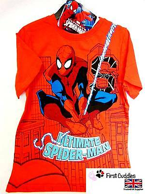 Boys Girls Kids Childrens Official Spiderman T-Shirt