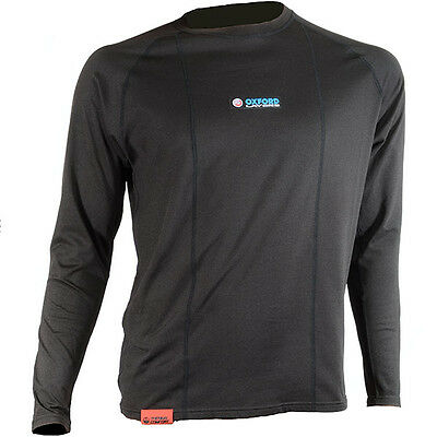 Oxford Warm Dry Motorcycle Base Layer Long Sleeve Top Motorbike Shirt New