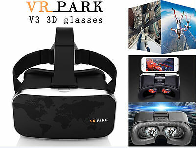 NEW Virtual Reality VR Box Park V3 3D Phone TV Video Glasses and Bluetooth Gear