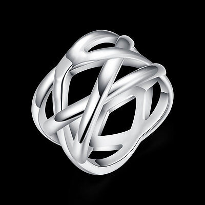 925 Sterling Silver Filled Ring Fashion Womens Costume Jewelry Size 6 7 8 9 10
