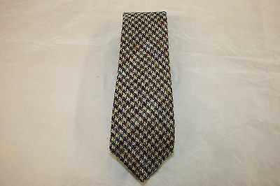 Scottish 100% Wool  Woven Tweed Tie - Country Dogtooth, Variation 2