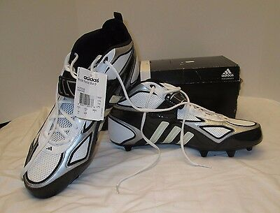 ADIDAS BRUTE FORCE Mid D LACROSSE SHOES WHITE BLACK Size 14 New In Box