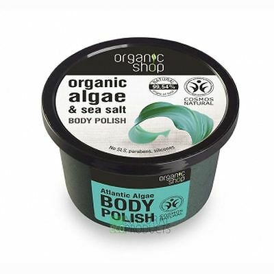 Organic Shop Body Polish Natural Algae and Sea Salt 250ml