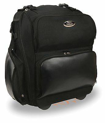 Large Textile Roll Away Luggage Sissy Bar Bag w/ Gun Holster Fits Most Harley's