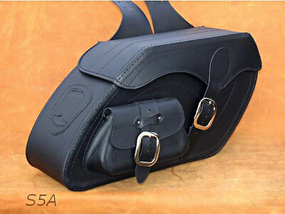 High Quality Leather Saddlebags Panniers Cases for Kawasaki VN1500 1600