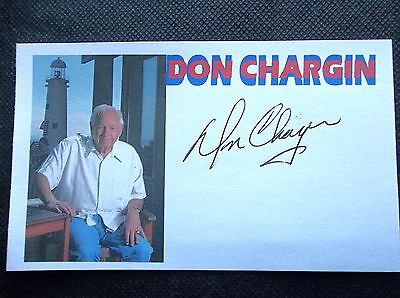 """Don Chargin """"boxing Promoter"""" (Boxing Hof) Autographed 3X5 Index Card"""