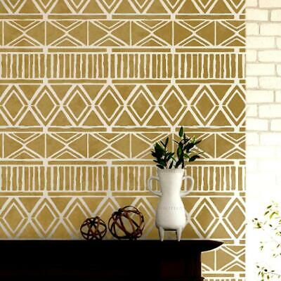 ZULU Tribal African Stencil - Furniture Wall Floor Stencil for Painting