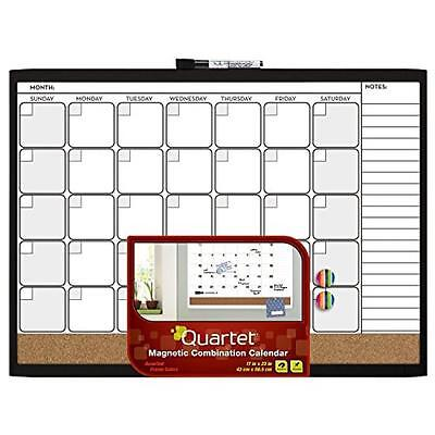 Quartet Magnetic Combination Calendar Board, 17 x 23 Inches, Dry Erase and Cork,