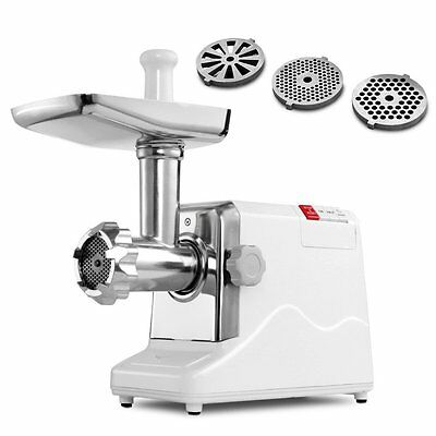 Commercial Electric Meat Grinder Industrial Steel Automatic Sausage Heavy Duty