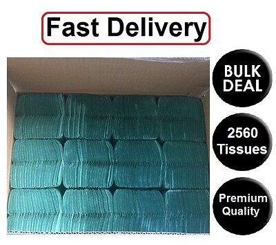 2560 Blue Paper Hand Towels Cfold  tissues Multi Fold Premium Quality Single Ply