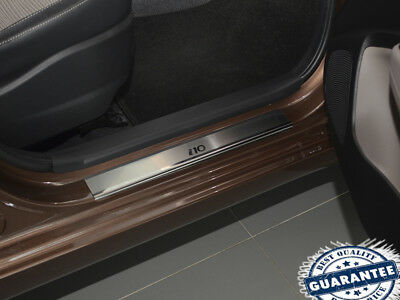 Hyundai i10 2014 2015 2016 Stainless Steel Door Sill Entry Guard Covers Protect