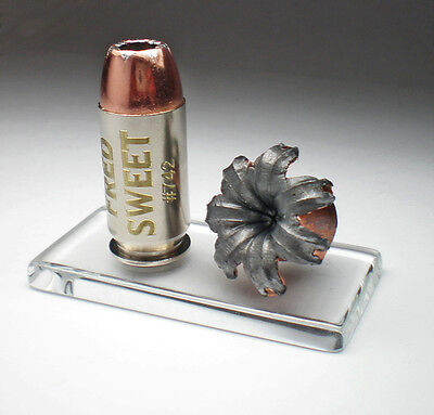 45 ACP Auto Speer Gold Dot 230g Engraved bullet Expanded on Glass Base Police