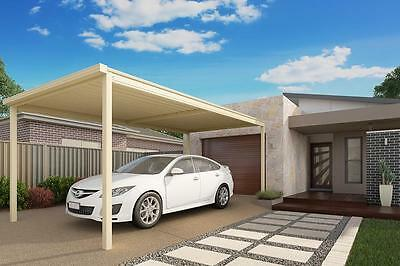 Single COLORBOND® Steel Carport Kit - 6.1m X 3.1m