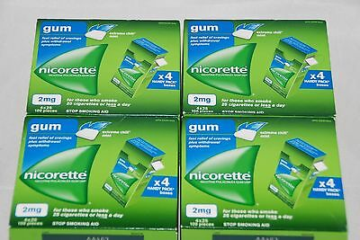 Nicorette Gum 2 Mg Extreme Chill Mint 400 Piece