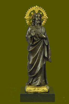 New Catholic Christian Cross Crucifix Brass Bronze Jesus Christ Standing Statue