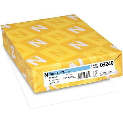 Neenah 80lb/216g Classic Crest Cardstock - A4 - Solar White 50 Pack
