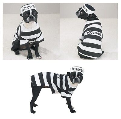 PRISON COSTUMES For DOGS Dress Your Pup Like a Prisoner in Stripes Size xSmall