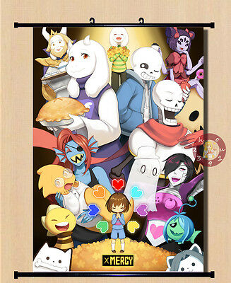 Anime Undertale Sans/Papyrus Home Decor Poster Wall Scroll#Z-X-21