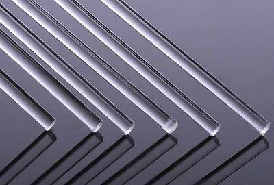"""1pcs ircle Dia 5mm clear acrylic plexiglass Extruded rod Round Perspex 10"""" tube"""