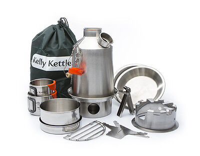 SCOUT Kelly Kettle® ULTIMATE KIT (Stainless Steel 1.1 Ltr)