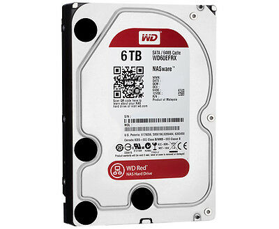 """WD [WD60EFRX] 6TB NAS Red Hard Drive 3.5"""" 3 Year Warranty"""