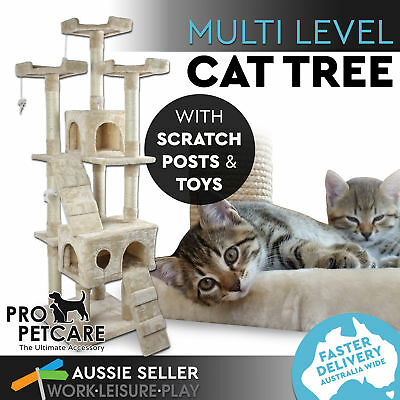 Cat Scratching Post Tree Gym House Condo Furniture Scratcher Poles Large Multi