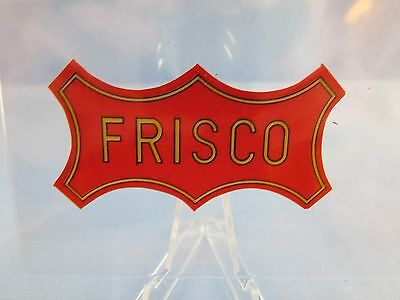 Old Vintage FRISCO Railroad Sticker Decal ( COOL OLD STICKER and GREAT PRICE ! )