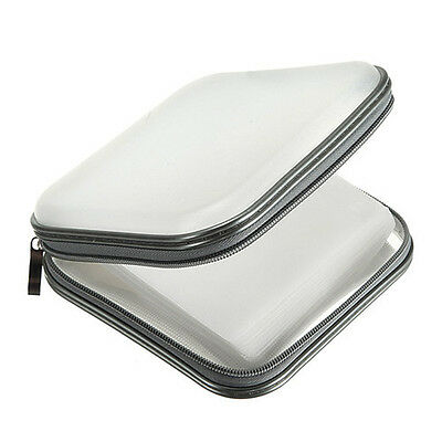 FP 40 CD DVD Di Storage Carry Ce Cover Holder Bag Hard Box - White