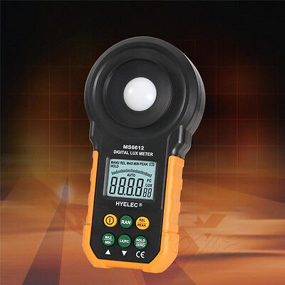 MS6612 Digital LCD Lux Light Meter Lux/FC Luxmeter Illuminance Measuring HYELEC