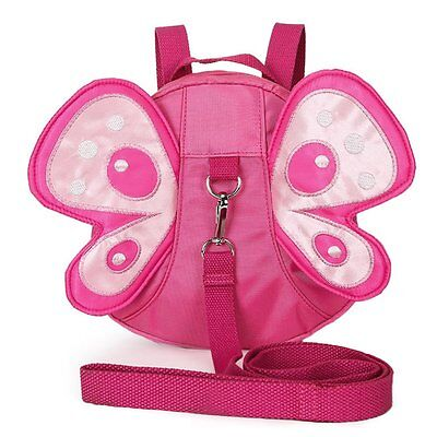 Cute Butterfly Baby Walking Safety Harness Strap Backpack with Safety Leash