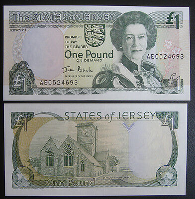 States of Jersey Banknote 1 Pound 2000 UNC
