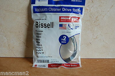 VACUUM BELTS, PACK OF 2, BISSELL Part No. PPP144OQ By 4 YOUR HOME
