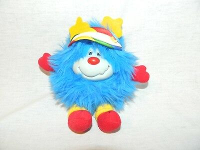 "VTG 1984 Rainbow Brite Buddy Blue 7"" plush CHAMP SPRITE w Visor / hat Stuffed"
