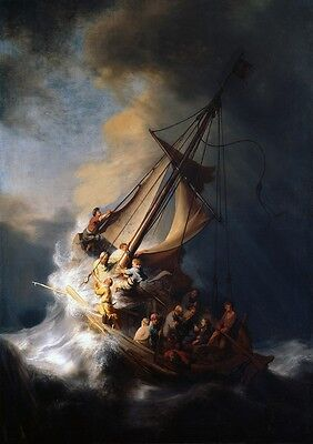 Rembrandt: The Storm on the Sea of Galilee. Art Print (101781)