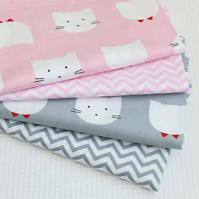 One PCS Cotton Fabric Pre-Cut Cotton cloth Fabric for Sewing Cat Or Wave D2