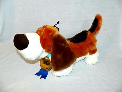 "RARE Disney Store Best of Show The Mouse Detective 18"" plush Basset Hound TOBY"