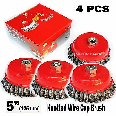 "50 PCS 3/"" x 5//8/"" 11NC FINE Knot Wire Cup Brush Twist For Angle Grinder Hoteche"