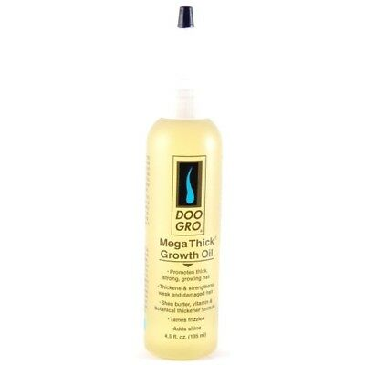 Doo Gro Mega Thick Growth Oil Promotes Thick Strong, Healthy Hair 4.5 Fl. Oz.