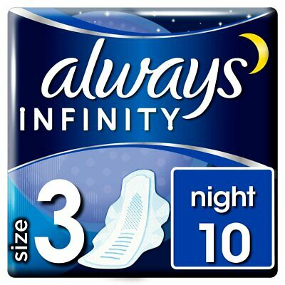 Always Infinity Night with wings Sanitary Pad 10PK