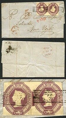 Two 6d Embossed with Scots Locals on cover